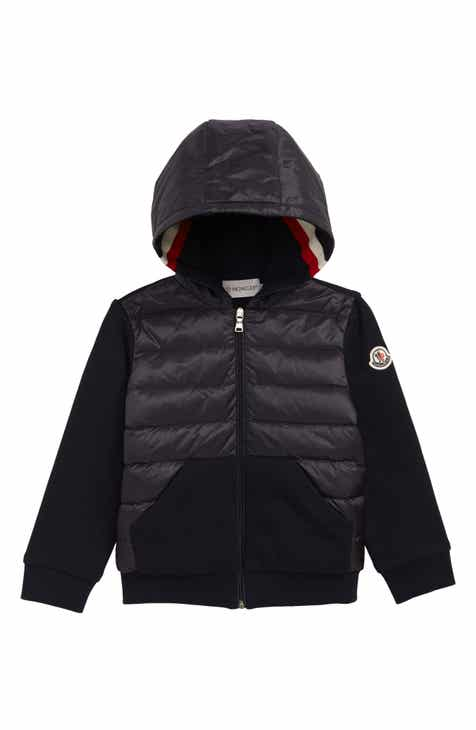 4682d8772 Moncler Knit Sleeve Hooded Down Jacket (Baby & Toddler)