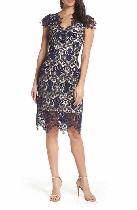 2a416155db Foxiedox Aliya Lace Sheath Dress