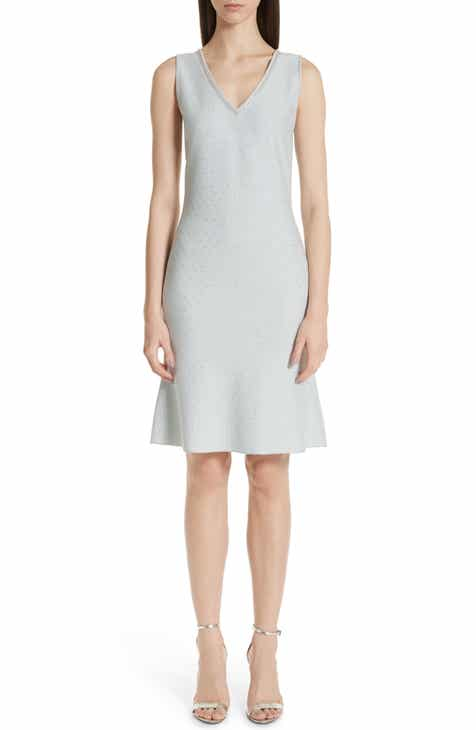 St. John Collection Anya Knit V-Neck Dress by ST. JOHN COLLECTION