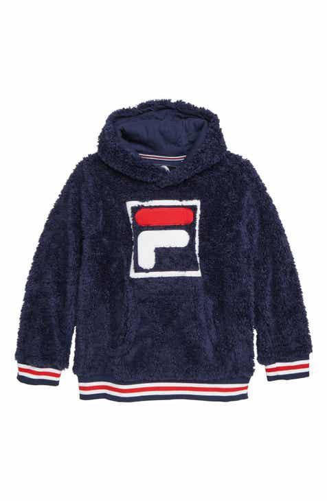FILA Fleece Logo Hoodie (Little Boys   Big Boys) eee4efa5fd87
