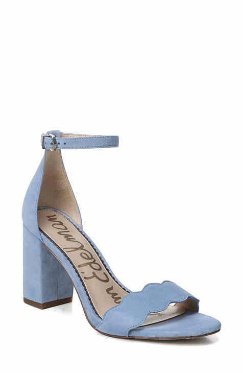 Blue Block-Heel Sandals for Women