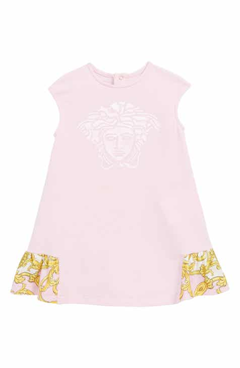6f979bc82 Versace Medusa Logo Ruffle Shift Dress (Baby)