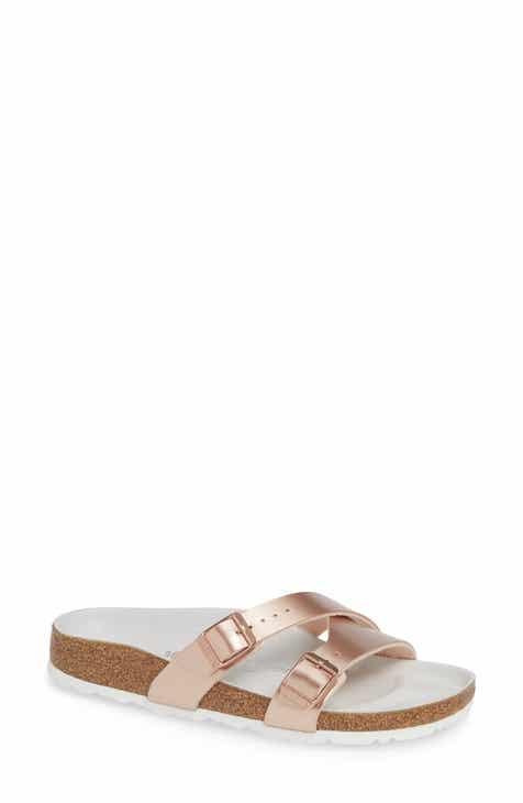 61f4f43e1a83 Birkenstock Yao Metallic Slide Sandal (Women)