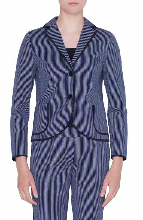 Akris punto Contrast Piping Blazer by AKRIS PUNTO