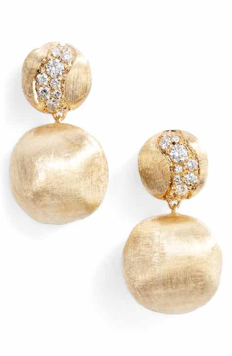 Marco Bicego Africa Constellation Diamond 18k Gold Earrings
