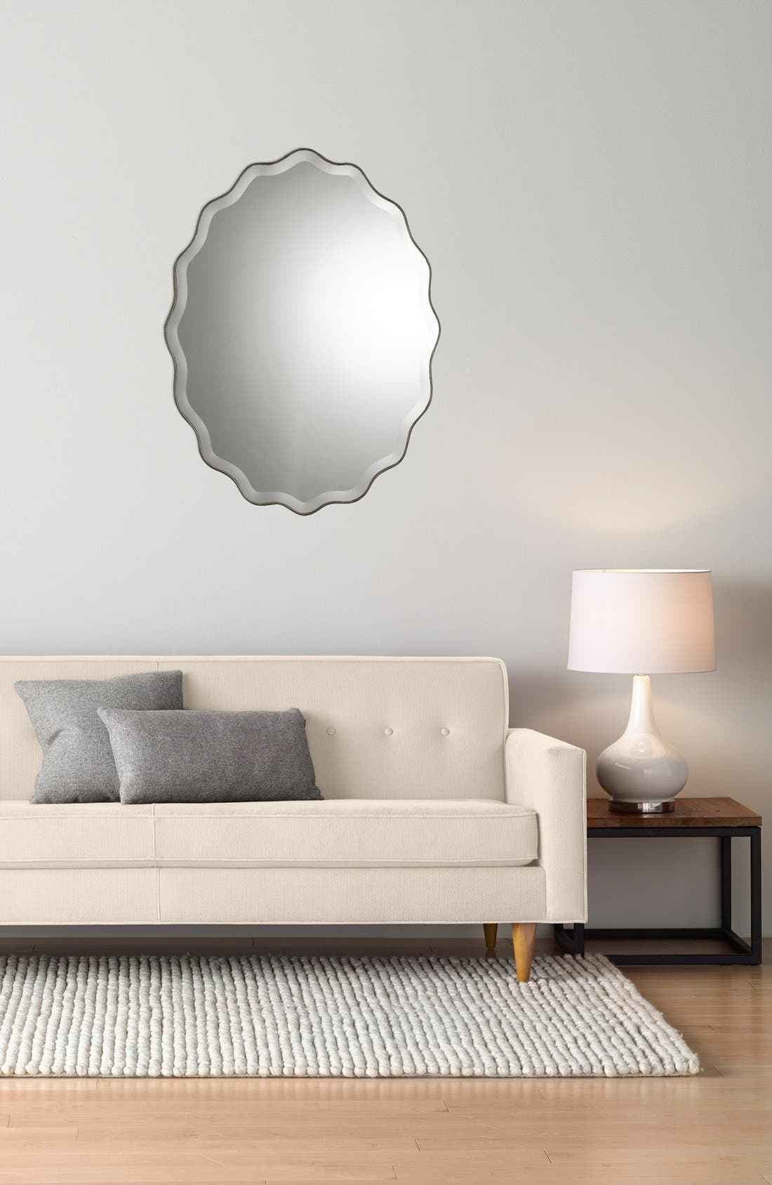 Alternate Image 2  - Uttermost 'Teodora' Ruffle Edge Mirror