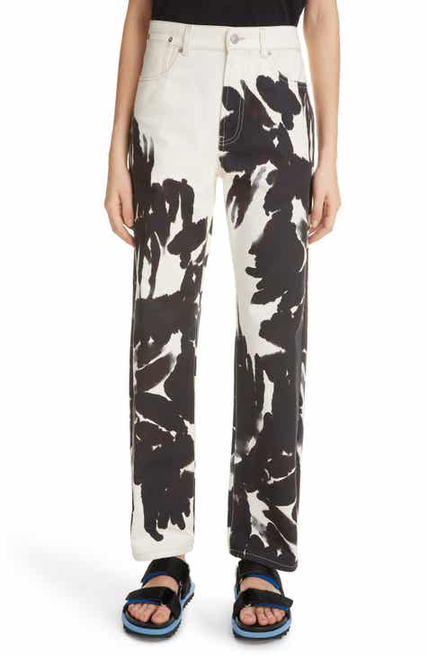 Dries Van Noten Piscos Print Straight Leg Jeans by DRIES VAN NOTEN