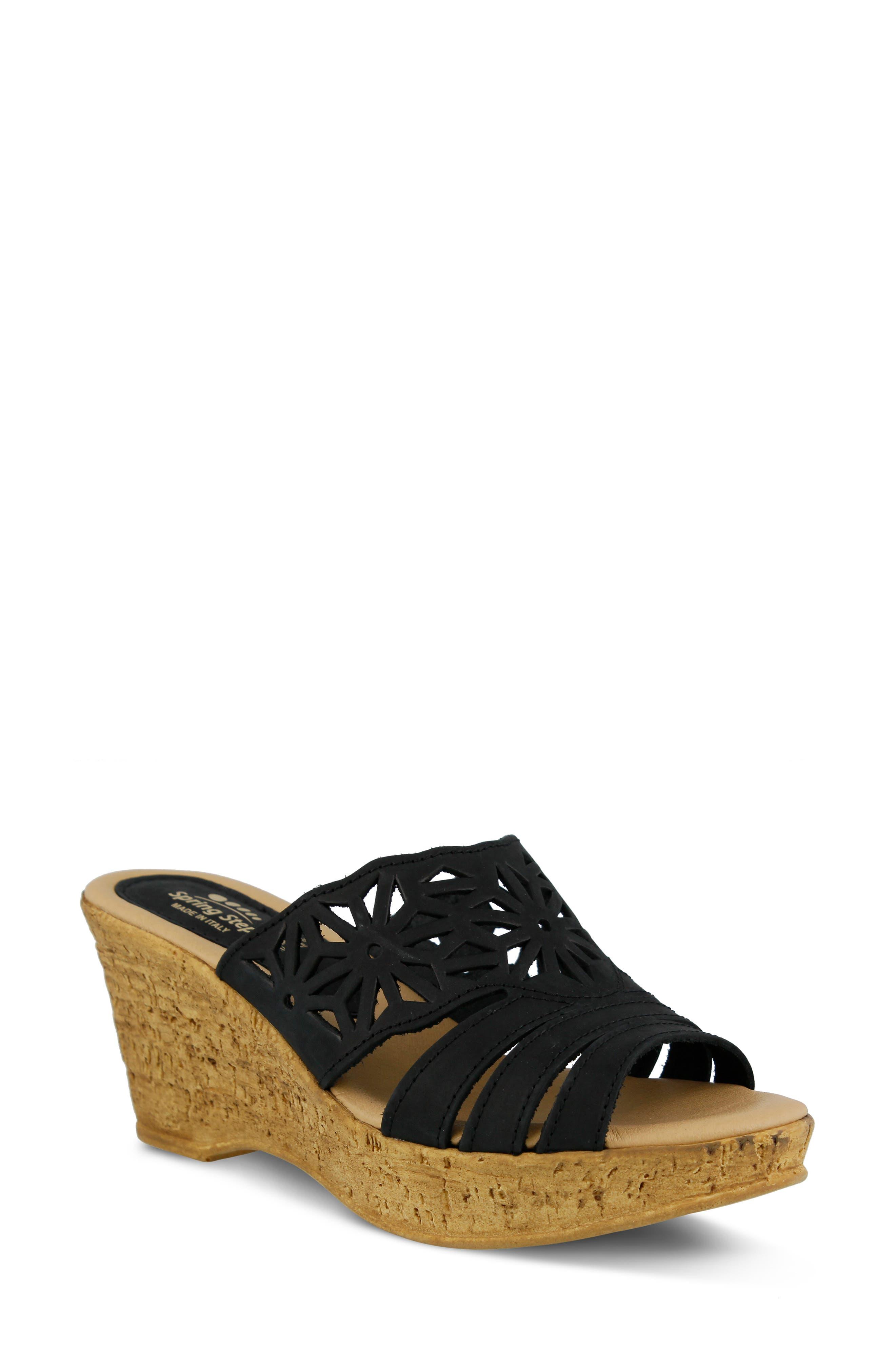 Spring Step Womens Naila Wedge Sandal