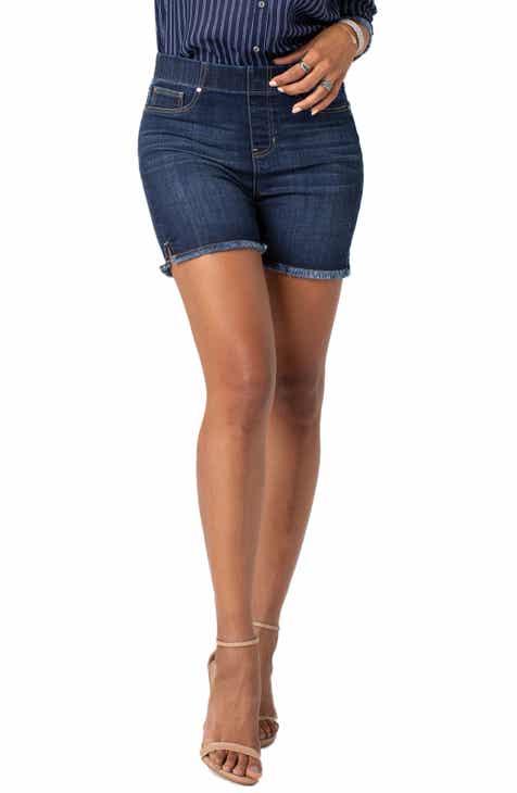 fdb7fd7ab2 Liverpool Frayed Hem Pull-On Denim Shorts