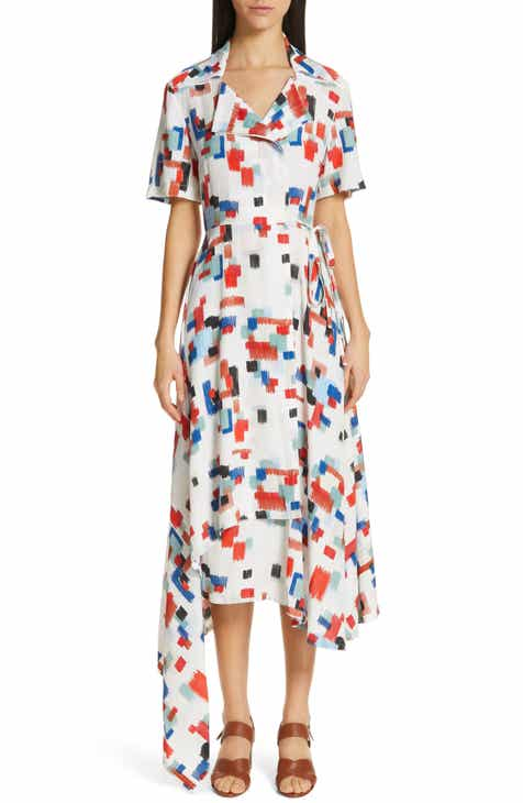 Rosetta Getty Scribble Print Wrap Dress by Rosetta Getty