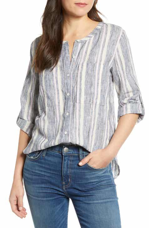 60a4cd317ea Caslon® Long Sleeve Top (Regular   Petite)