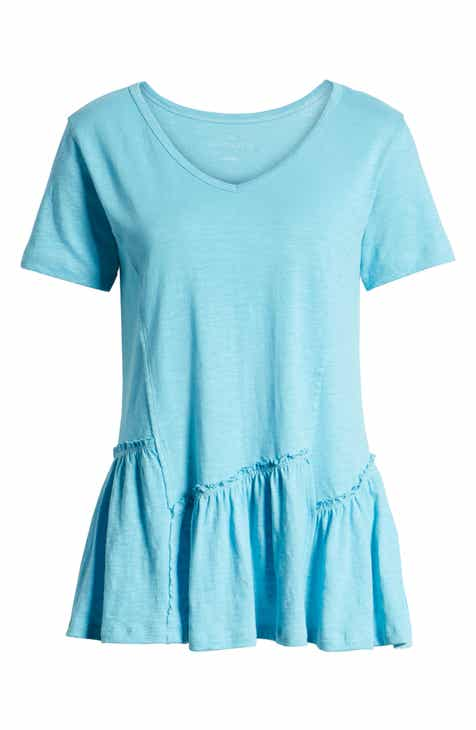 f64b7cd3 Caslon® Asymmetrical Peplum Tee (Regular, Petite & Plus Size)