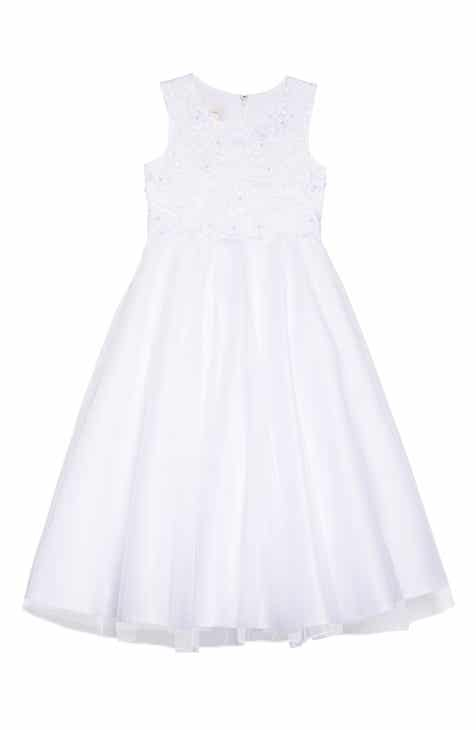 8bf1a0c38a5 Lauren Marie Embroidered Bodice Tulle Dress (Little Girls   Big Girls)