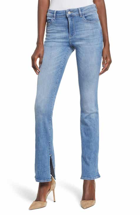 DL1961 Bridget Split Hem Bootcut Jeans (Ares) by DL 1961