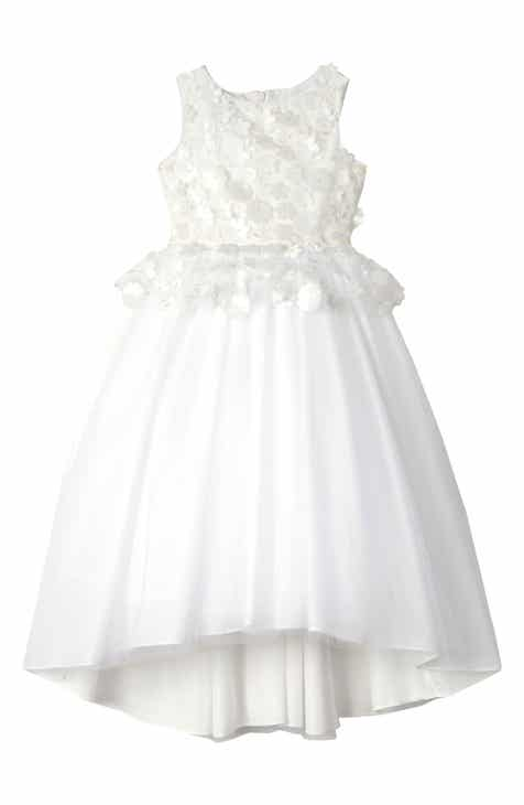 1e1148d1f3f Badgley Mischka Collection 3D Flower Peplum Dress (Little Girls   Big Girls)