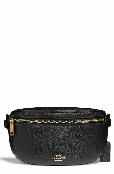 b2415a81372f COACH Pebbled Leather Belt Bag