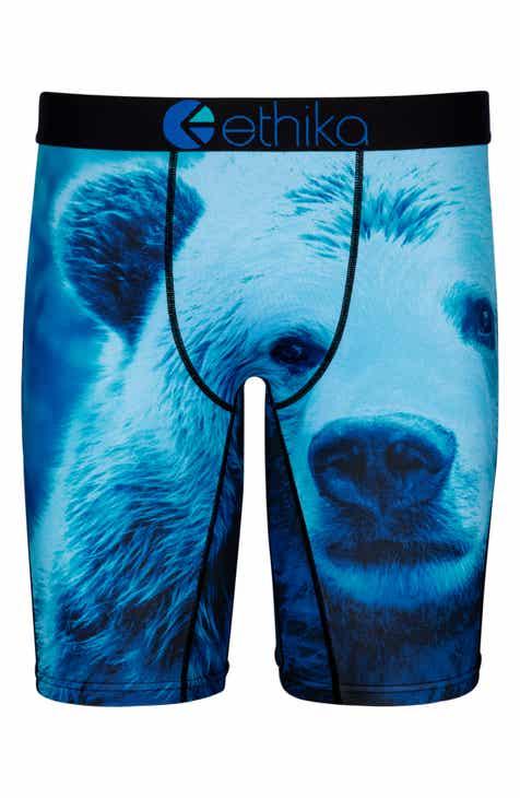 29e8440435 Ethika Blue Bear Boxer Briefs (Little Boys   Big Boys)
