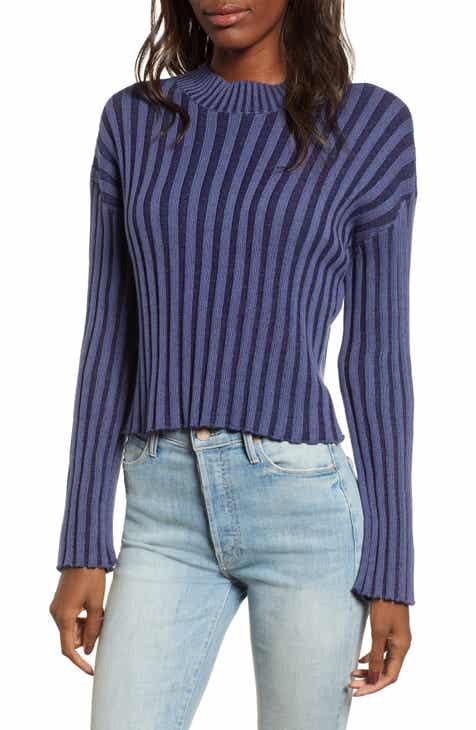 Shadow Rib Crop Sweater (Regular   Plus Size) bb5b46ac7