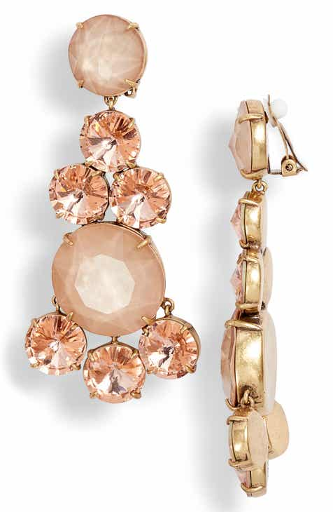 Tory Burch Circles Chandelier Clip Earrings