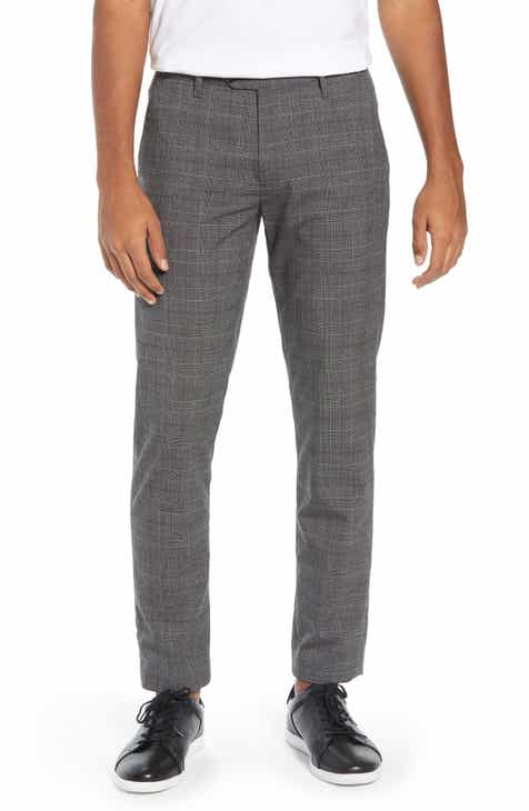 390d43279dfa Ted Baker London Squared Slim Fit Check Cropped Trousers