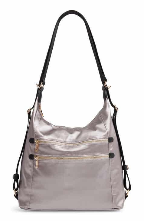 70406ed1ad6e Sondra Roberts Satin Convertible Hobo Backpack