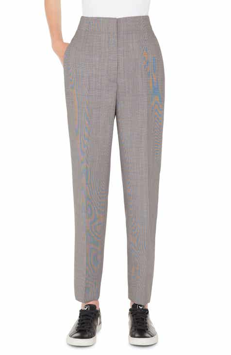 Akris Check Wool Blend Pants by AKRIS