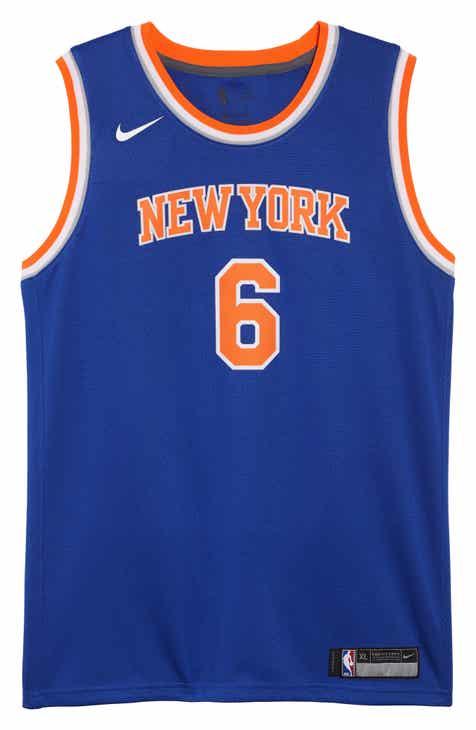 Nike New York Knicks Kristaps Porzingis Basketball Jersey (Big Boys)