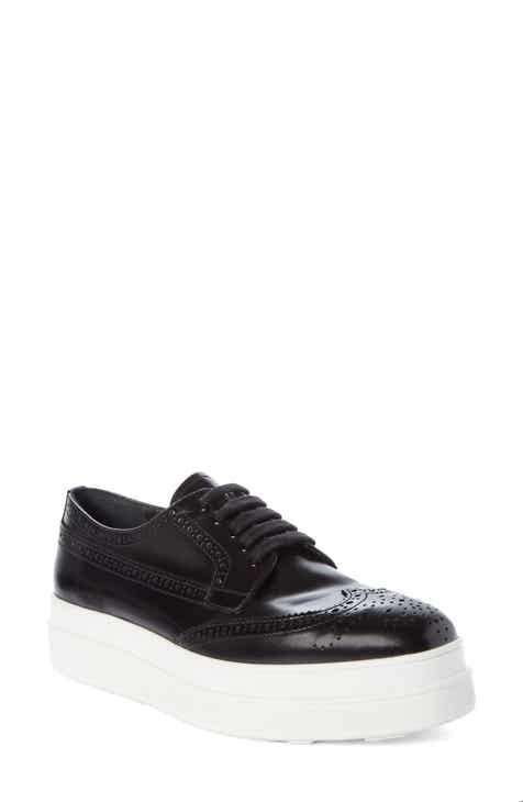 b6d8df79a69e Prada Platform Wingtip Derby Sneaker (Women)