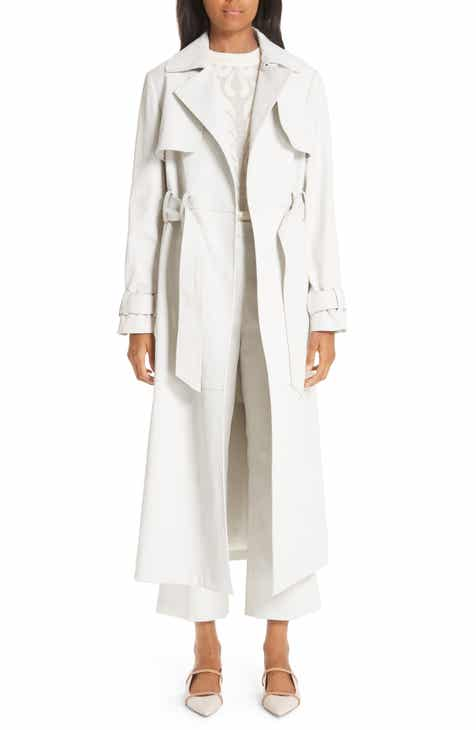 Partow Wax Coated Denim Trench Coat by PARTOW