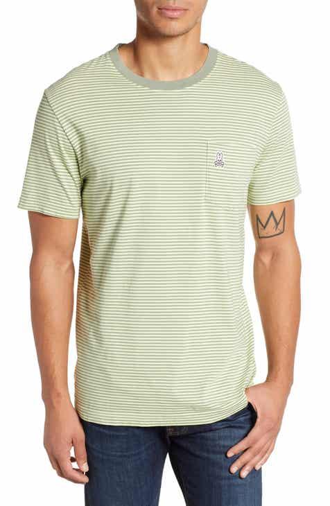bb1bbf8ad4d Psycho Bunny Tamar Stripe Pocket T-Shirt
