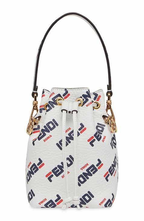 Fendi x FILA Mon Tresor Mania Logo Bucket Bag 0f21d5f40bea6