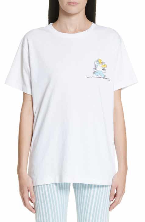 43036d0bbf22 Off-White Homer   Bart Short Sleeve Skinny Tee