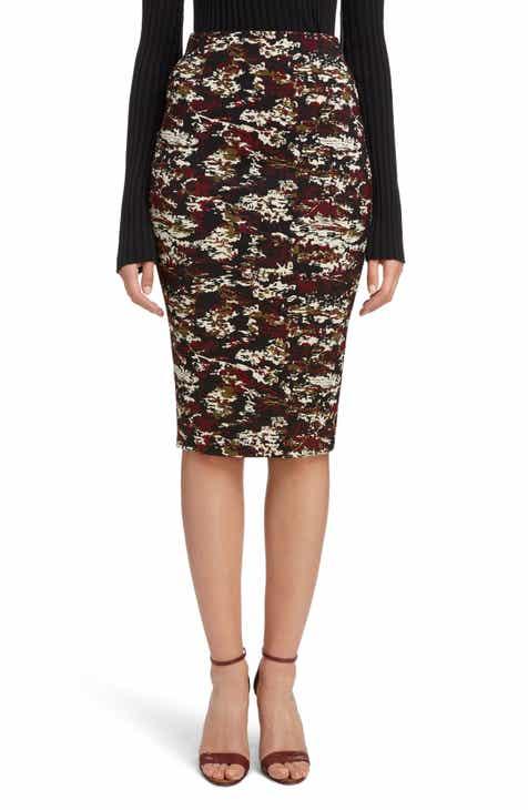 Victoria Beckham Camouflage Pencil Skirt by VICTORIA BECKHAM
