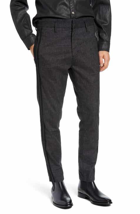 eb3c38b7eb943 John Varvatos Star USA Side Stripe Cuffed Cotton Blend Pants