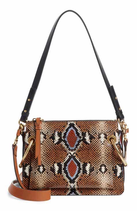 Chloé Small Roy Python Embossed Leather Crossbody Bag