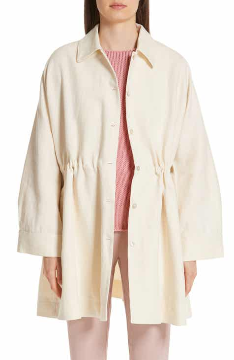 Anne Klein Piped Detail Nehru Sweater Coat by ANNE KLEIN