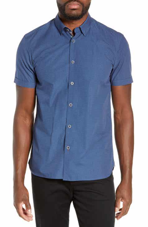 3bce01105feacd Ted Baker London Highli Slim Fit Polka Dot Sport Shirt