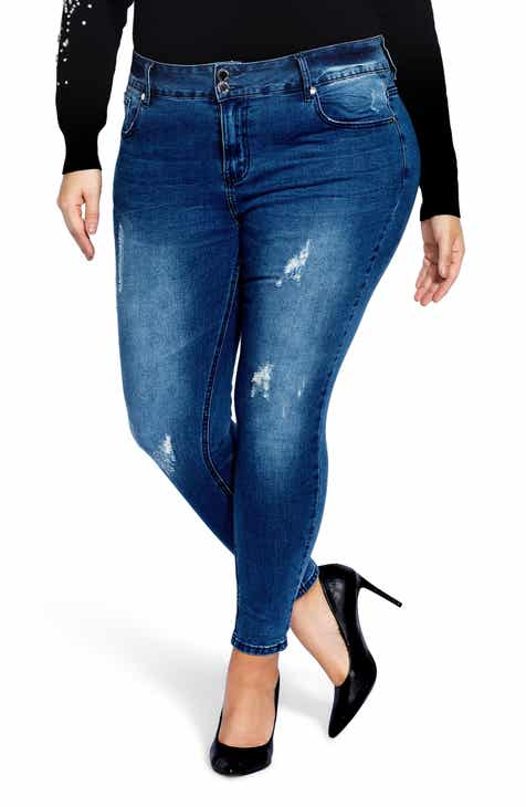 9529d0d1691f City Chic Asha Crushed Distressed Jeans (Plus Size)