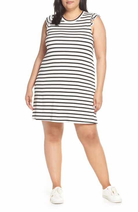 8525dd7fb9556 Laguna Soft Jersey Ruffle Back T-Shirt Dress (Plus Size) (Nordstrom  Exclusive)