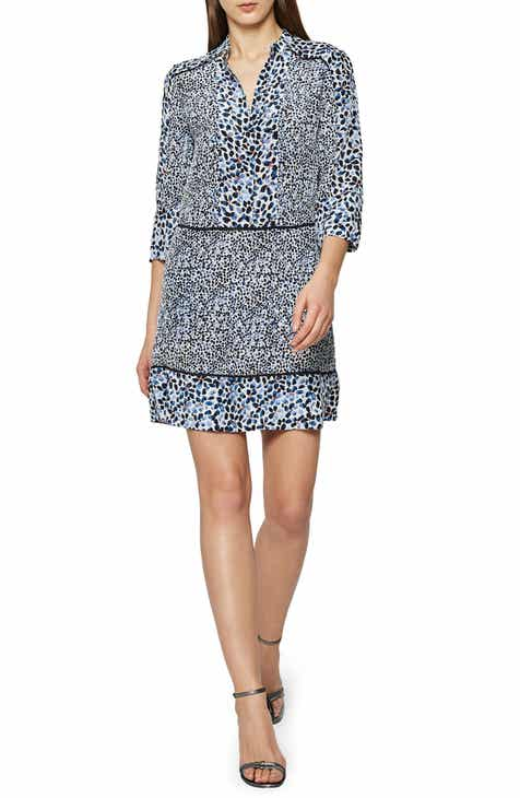 DVF Hatsu Tiered Silk Shirtdress by DVF