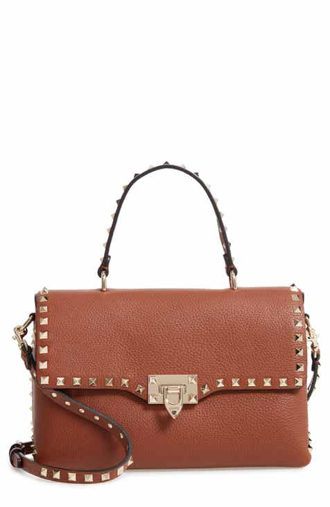 716e089494f VALENTINO GARAVANI Rockstud Leather Top Handle Bag