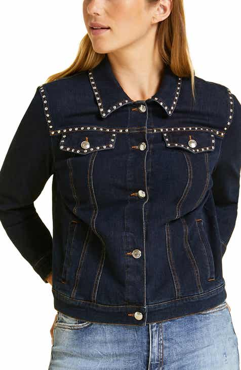 dca73b5c5a Marina Rinaldi Canguro Studded Denim Jacket (Plus Size)