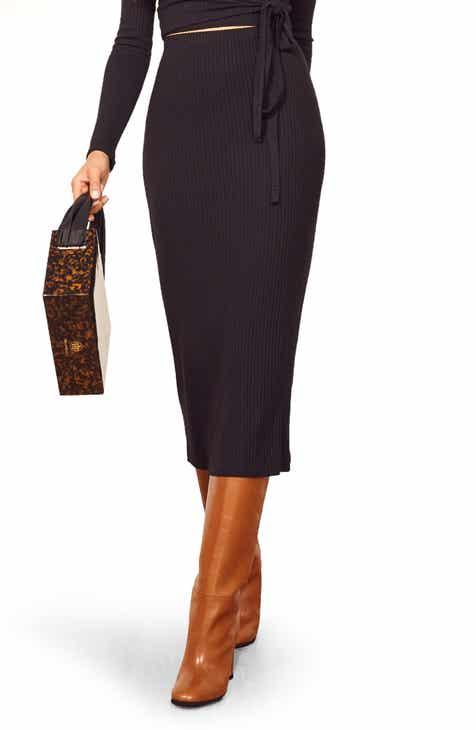 5029bfc3ef Reformation Viola Midi Skirt
