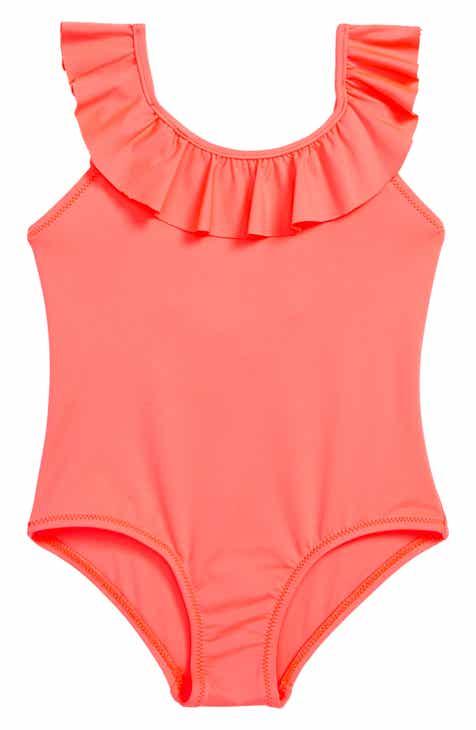 b076bc20be Milly Minis Ruffle One-Piece Swimsuit (Toddler Girls, Little Girls & Big  Girls)