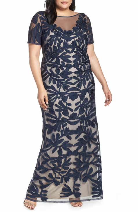 e9012e9349c JS Collections Illusion Soutache Evening Dress (Plus Size)
