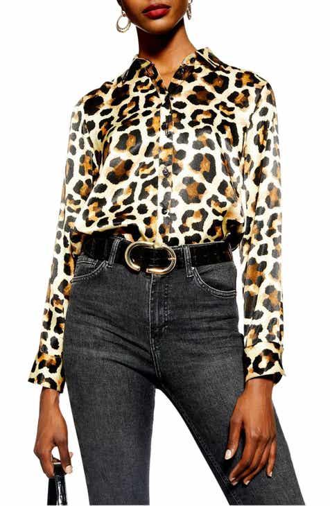 Topshop Leopard Print Shirt e887eaaef