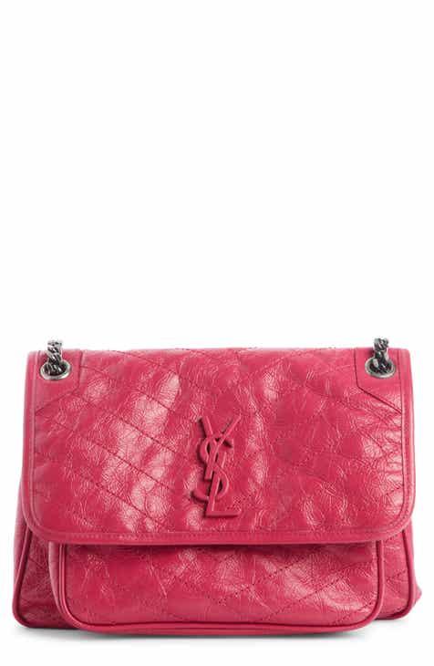 4892ca78f4 Saint Laurent Medium Niki Leather Shoulder Bag