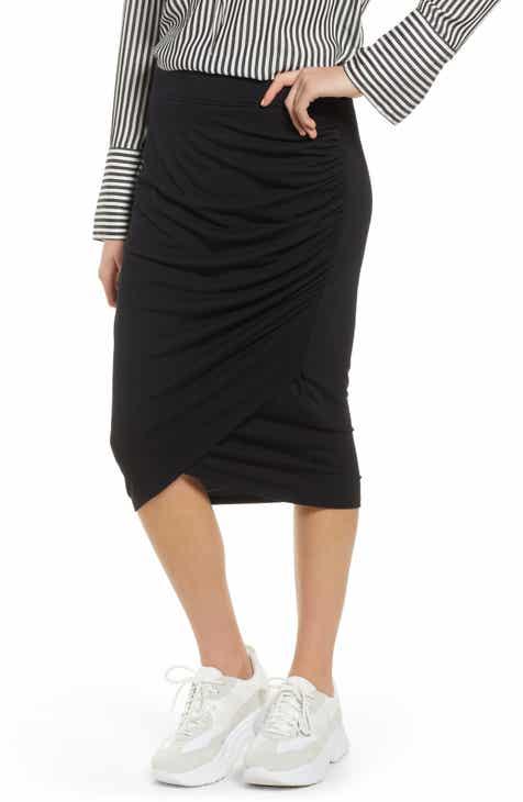 af967013d4 Treasure   Bond Shirred Side Midi Skirt