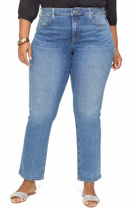 2b6cc4e3661e7 NYDJ Marilyn Straight Leg Jeans (Rhodes) (Plus Size)