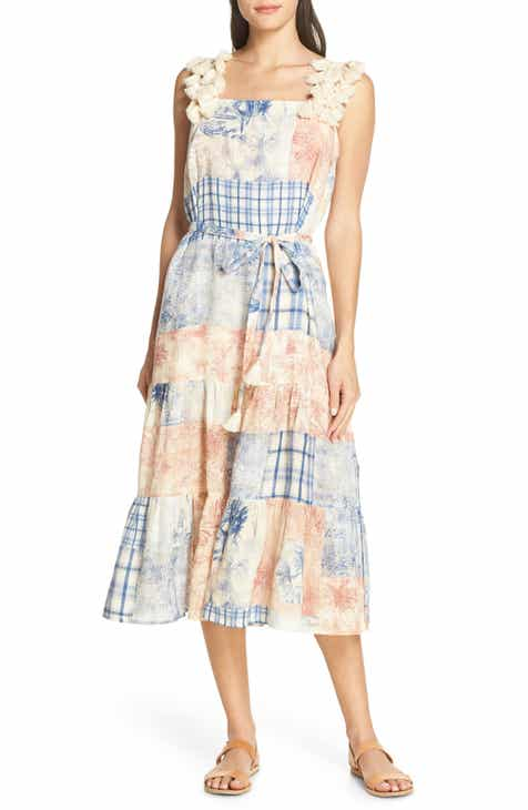 78921f13d6 Tory Burch Patchwork Toile Cover-Up Dress
